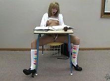 Chastity Lynn Schoolgirl Orgasm